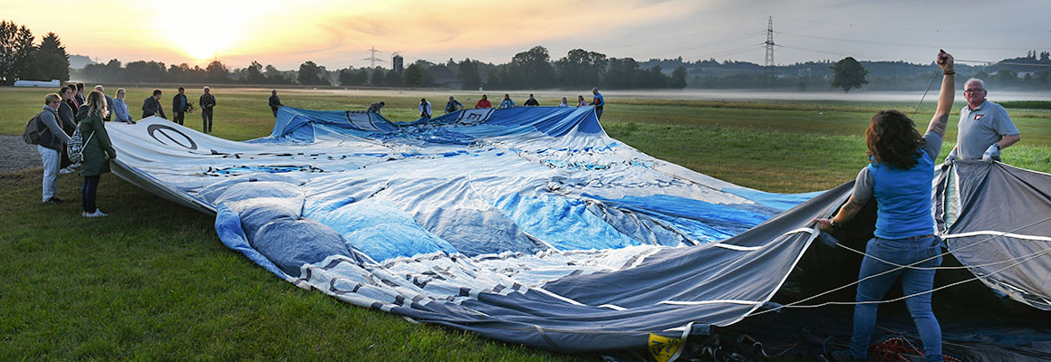 3. Setting up the balloon